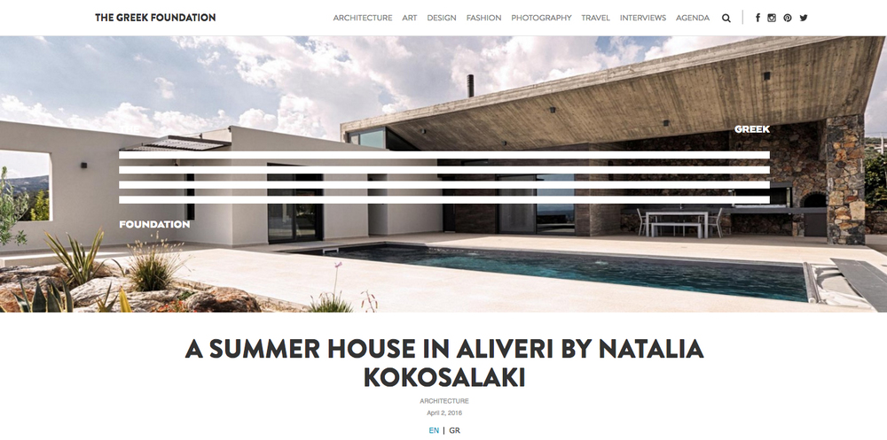 A summer House in Aliveri published in   THE GREEK FOUNDATION    02/04/2016