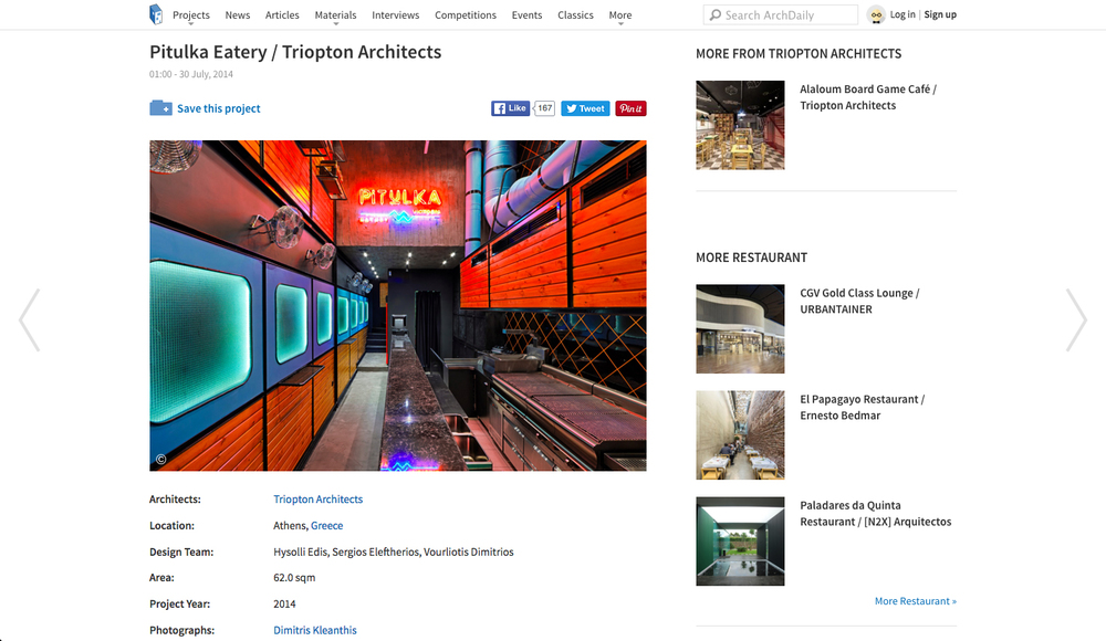 Pitulka Eatery in   Archdaily    30/07/2014