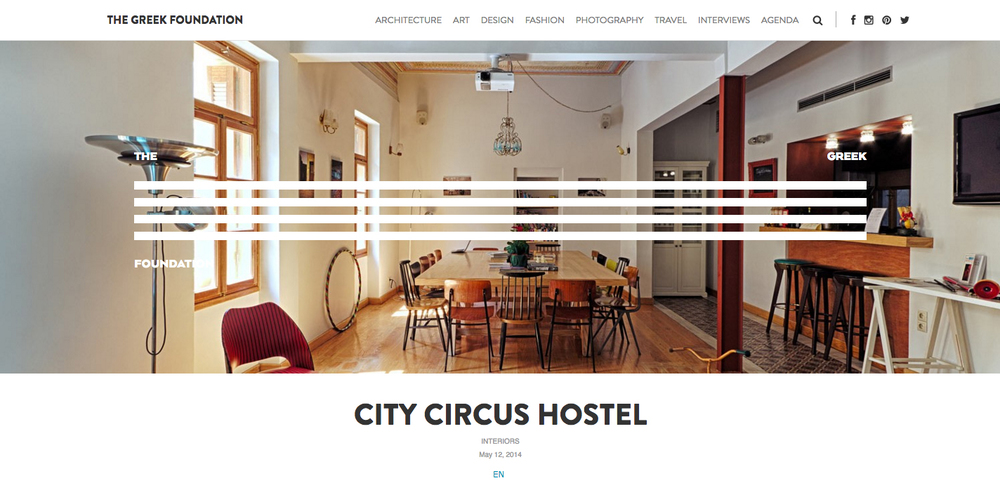 City Circus Hostel in   THE GREEK FOUNDATION    12/05/2014