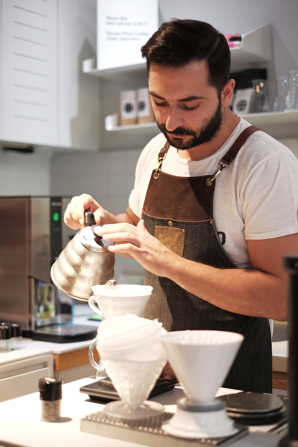 Portraits of baristas for  Athens Voice  special coffee issue 672, 27/9/2018