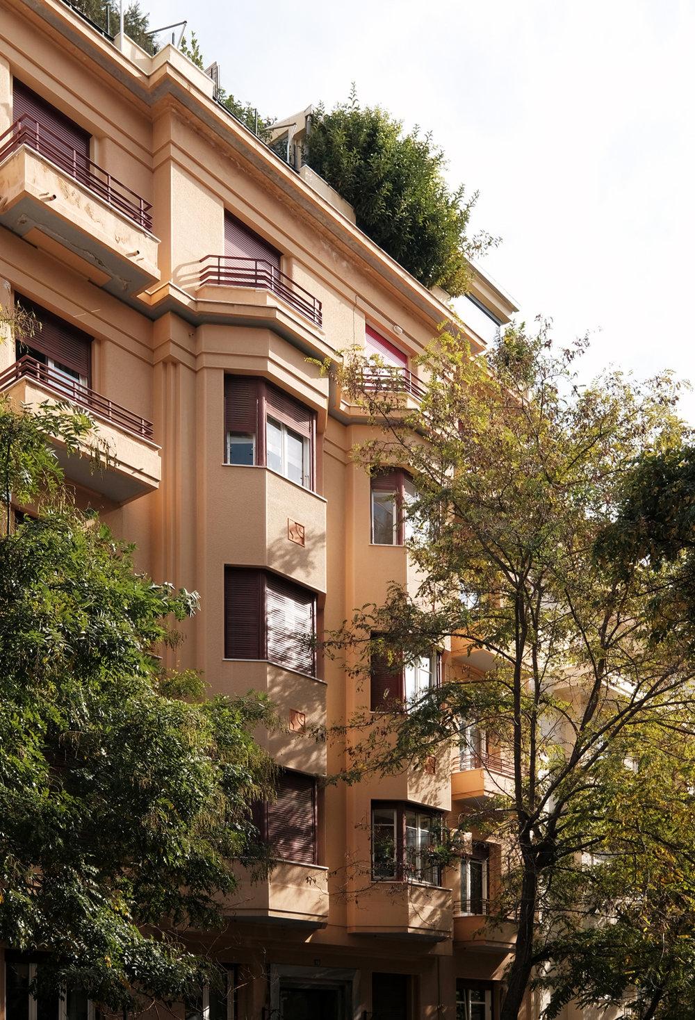 Apartment building in Kolonaki, interior apartment renovation by   Elena Karoula