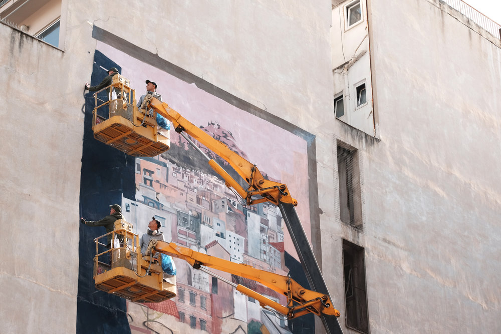 Mural for   Athens Voice   by Billy G and Alexander Martinez