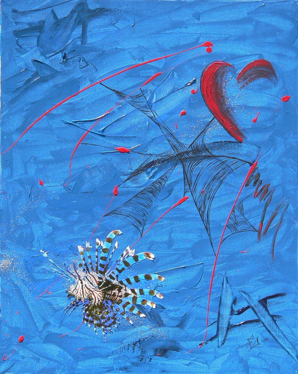 Abstrakt mit Fisch, 03/2006