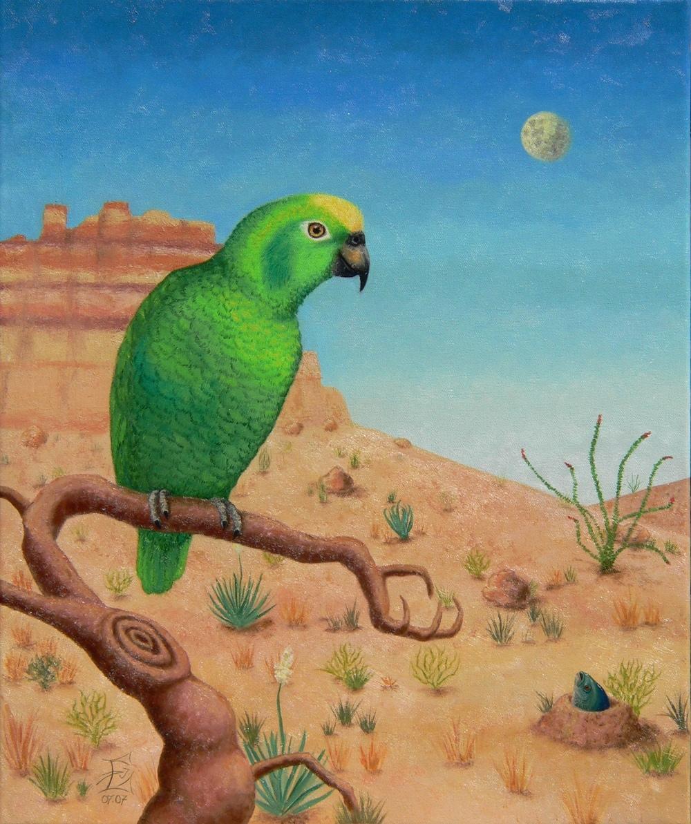 Papagei und Karpfen, 07/2007