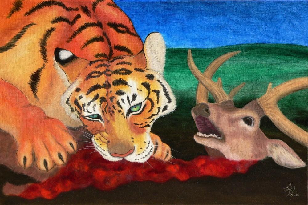Tiger und Hirsch, 03/2010