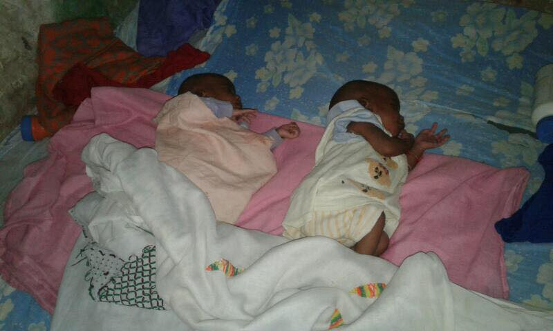 One of the FOUR sets of twins recently born at the newly constructed Sama Toucouleur Health Post