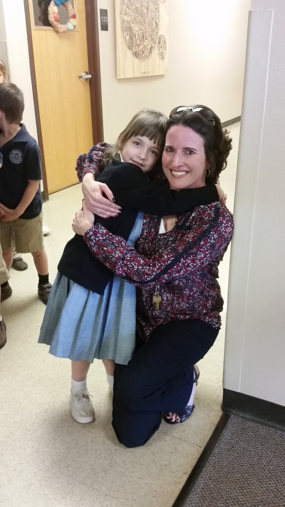 Addey and her teacher Mrs. Benoit.