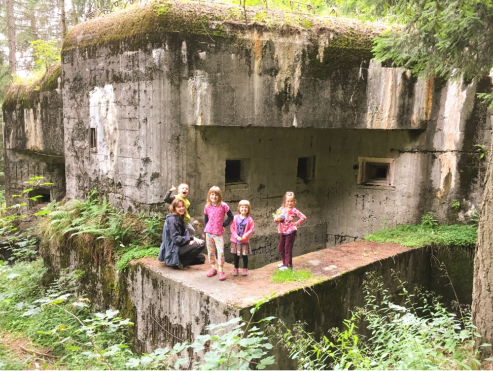 During the camp we had the opportunity to explore some old bunkers constructed right after WWI near the border of Poland.