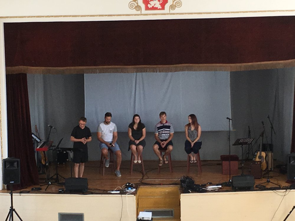 Lisa sat in on a panel discussion sharing what life has been like as an International working with the church in Czech.