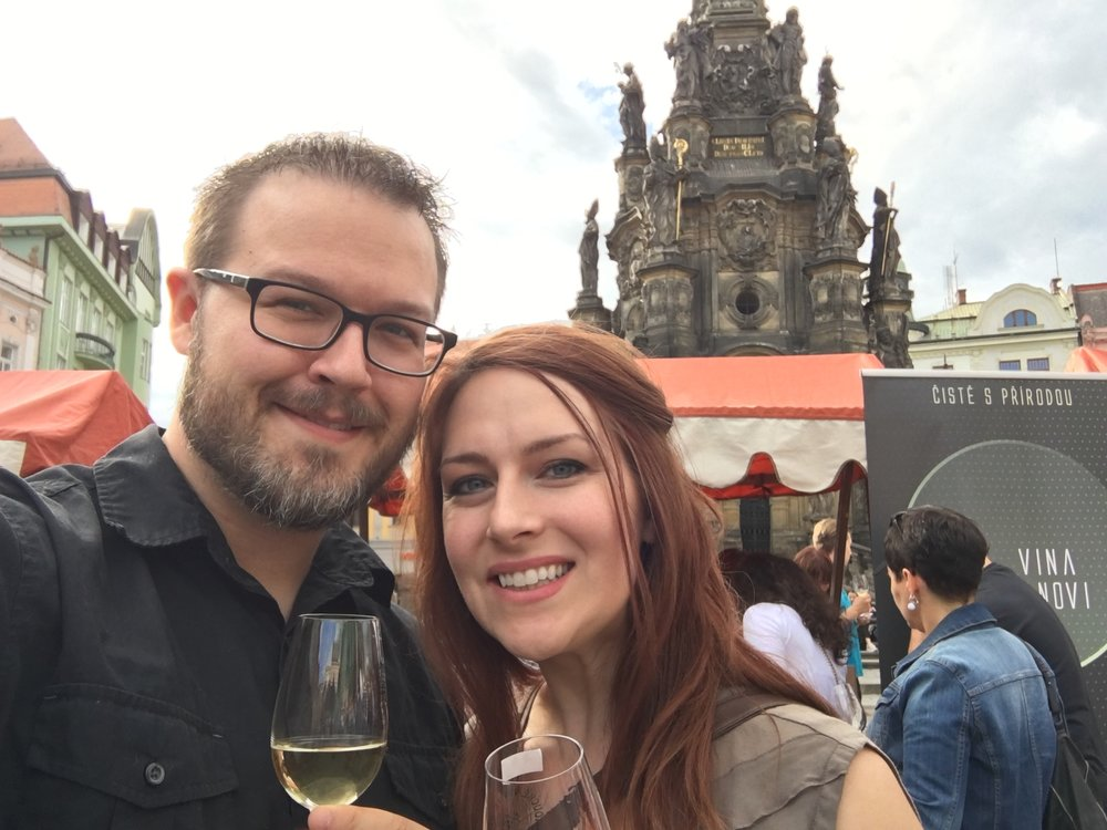 Date night at the Olomouc Wine Festival.