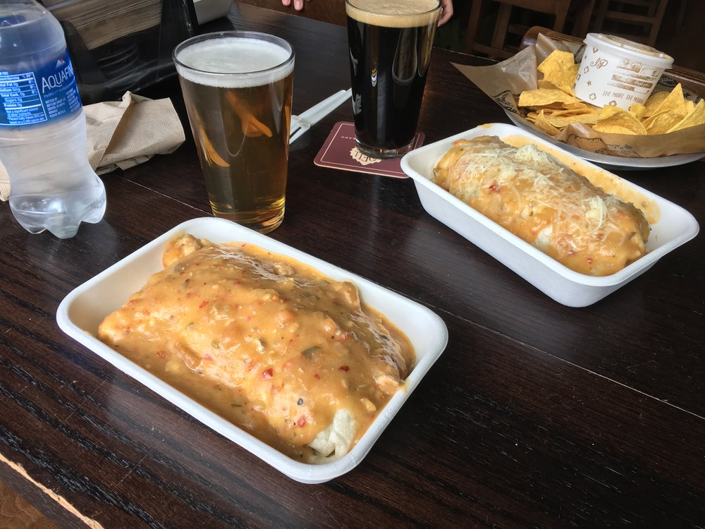 Probably the #1 food I missed in the States: Illegal Pete's Green Chili Smothered Burritos.