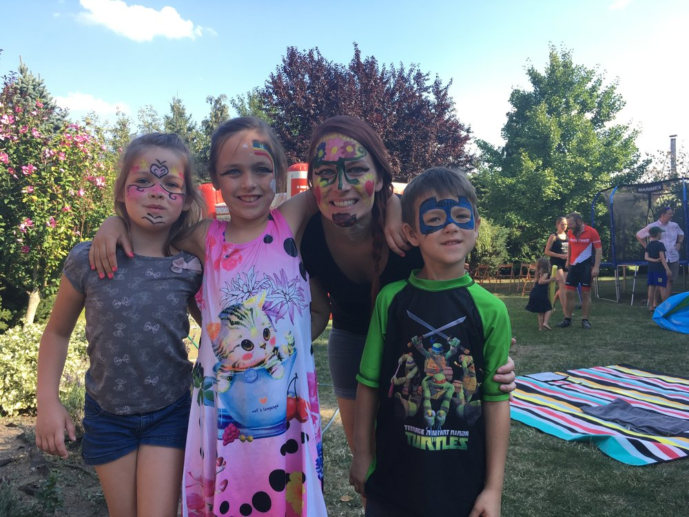 Face painting at Metro Family Camp