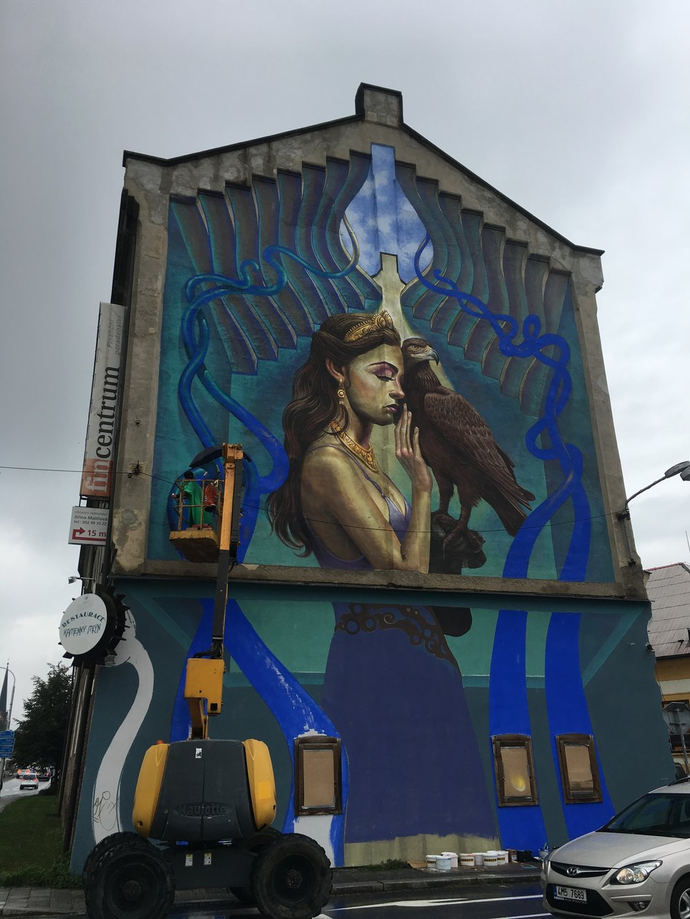 Watching the new street art develop in Olomouc