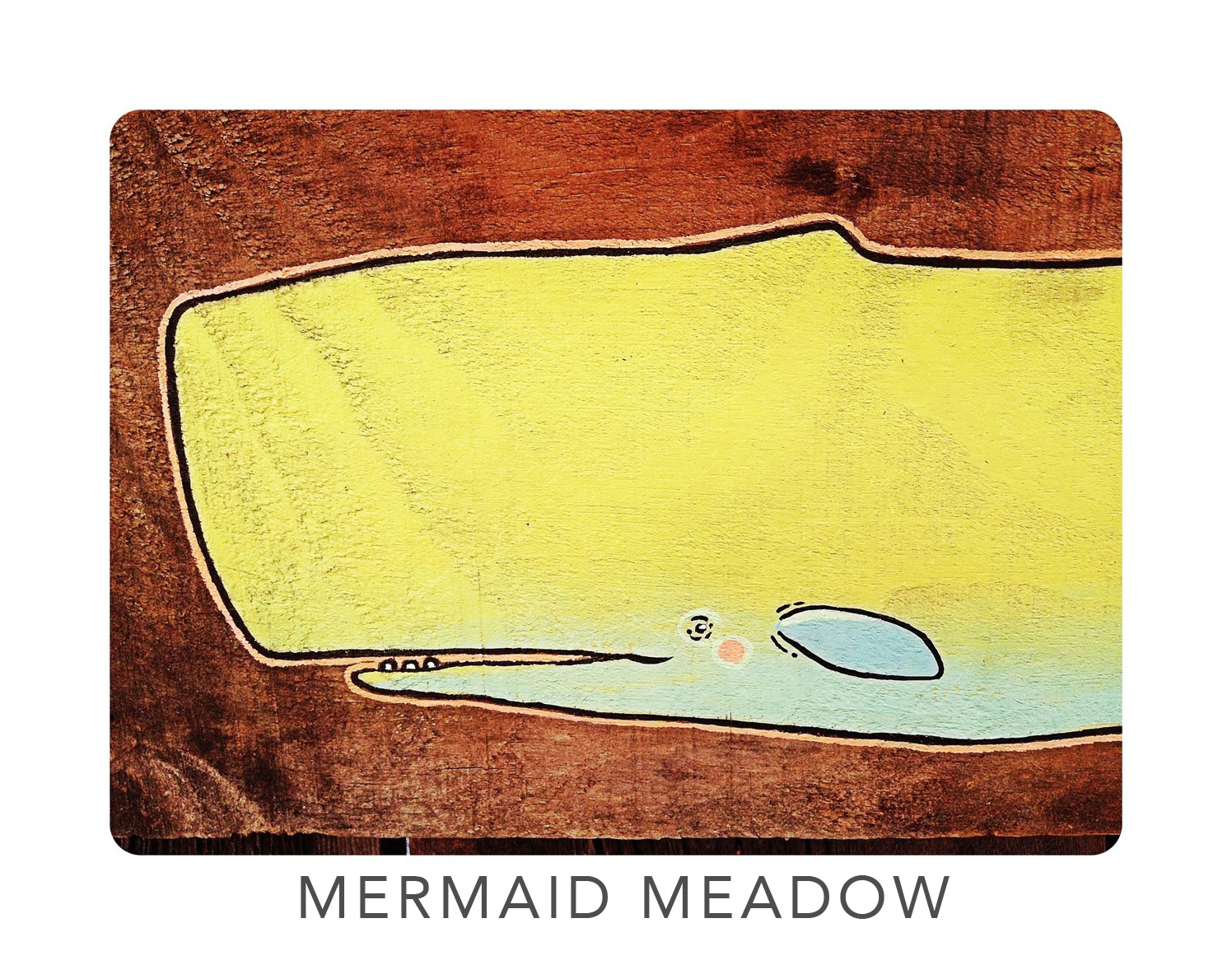 mermaid meadow | Illustrative Artworks on Reclaimed Maine Barnwood