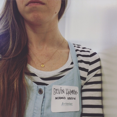 Homemade Name tag (lost the real one immediately)
