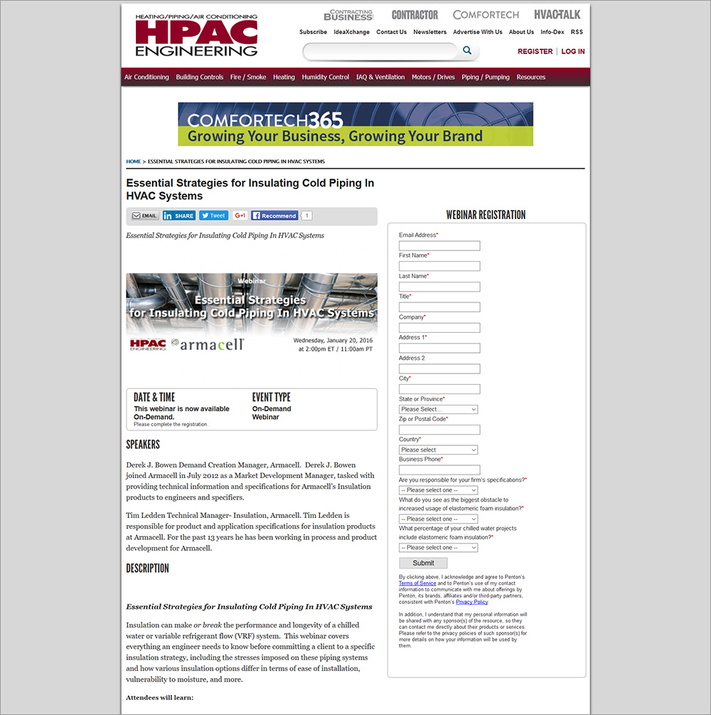 Screenshot of info page for webinar script written by Trish Holder.