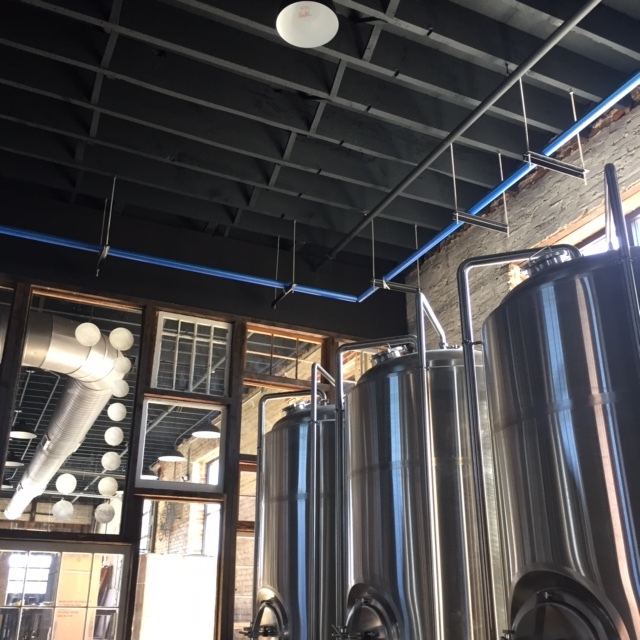 Inside the Wise Man Brewing area.