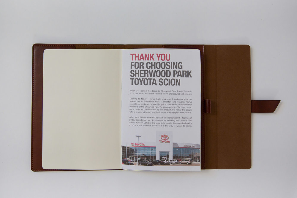 Customized Insert Page in Bound Book