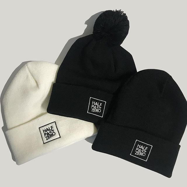New @itshalfpastzero beanies we just finished up! Designed to keep you looking stylish and protect those lobes for weather much colder that half past zero. Hit them up to snag one for your dome piece!