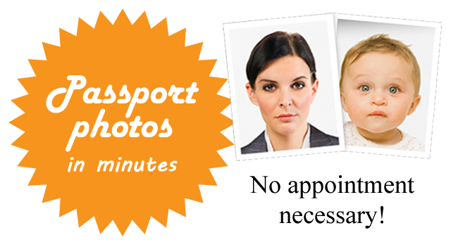 We take U. S. Passport Photos