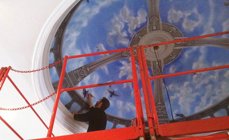 Trompe L'oeil Concave Dome Ceiling