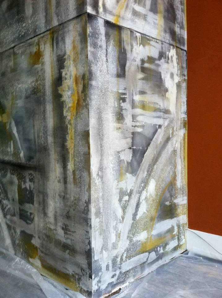 Abstract Expressionist Mural