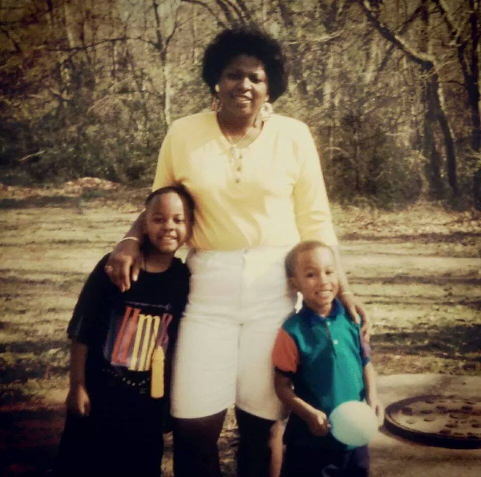 From left to right: My older brother, my mom, and me back when I was still a lowercased G.