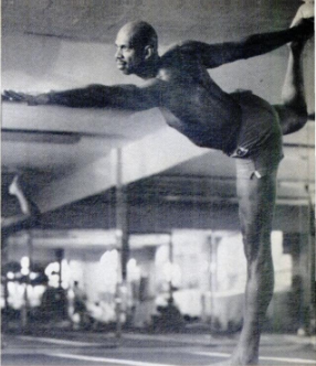 Abdul-Jabbar in Standing Bow pose.