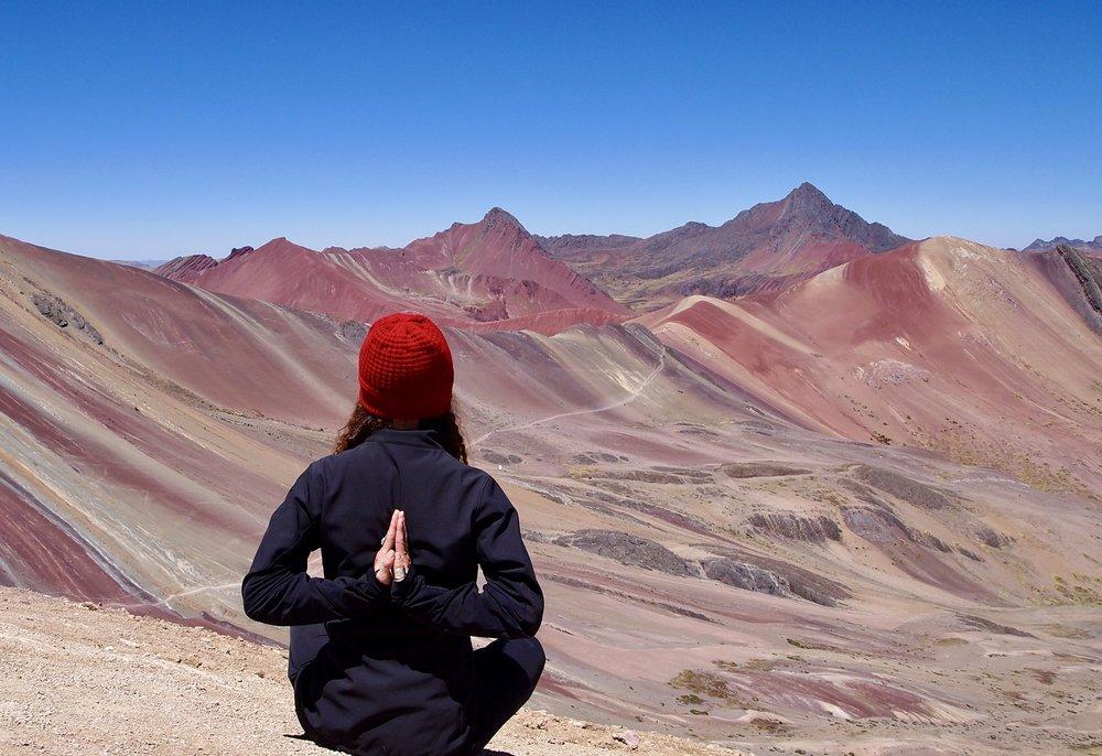 Yoga at Altitude (La m ontana de Colores, Peru )
