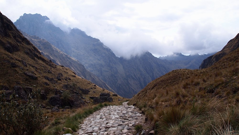 It's all downhill from here ( The Inca Trail, Day 2, headed to Pacamayo )