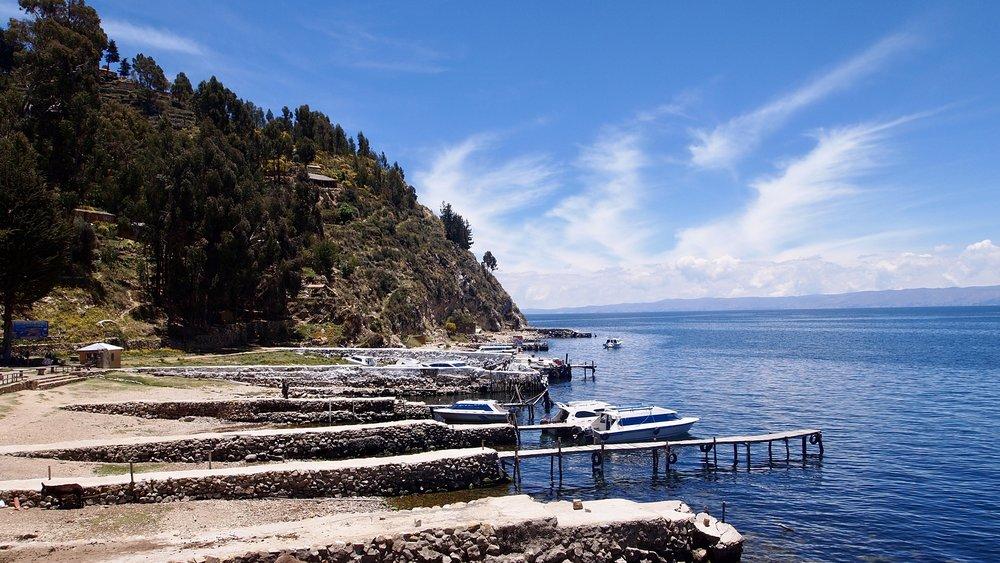 Yumani docks ( Isla del Sol, Lake Titicaca, Bolivia )