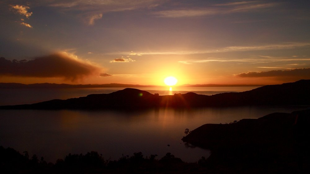 Sunset on Isla del Sol ( Lake Titicaca, Bolivia )