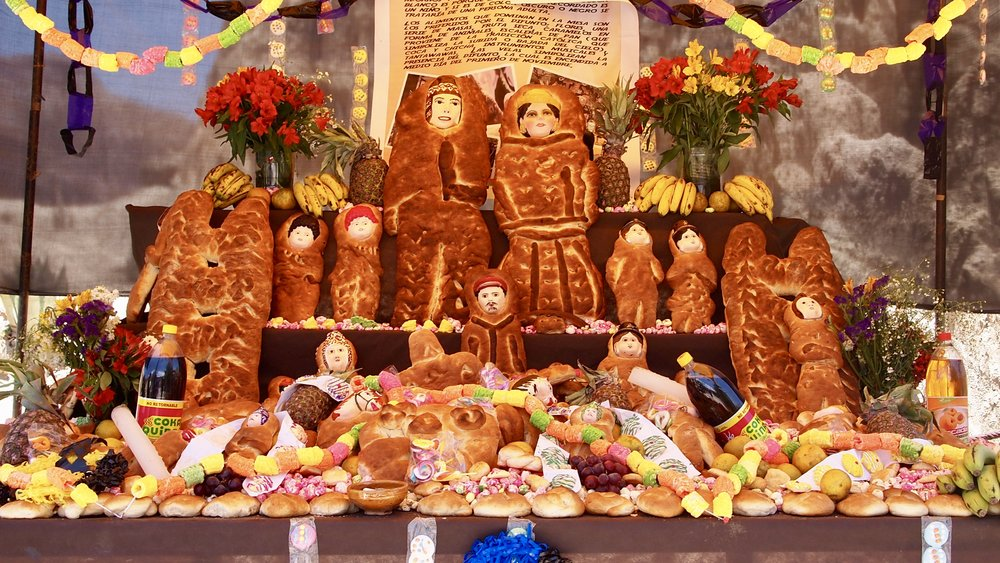 In Bolivia, Halloween is celebrated by baking bread effigies to honour all the loved ones who have passed on ( La Paz, Bolivia )