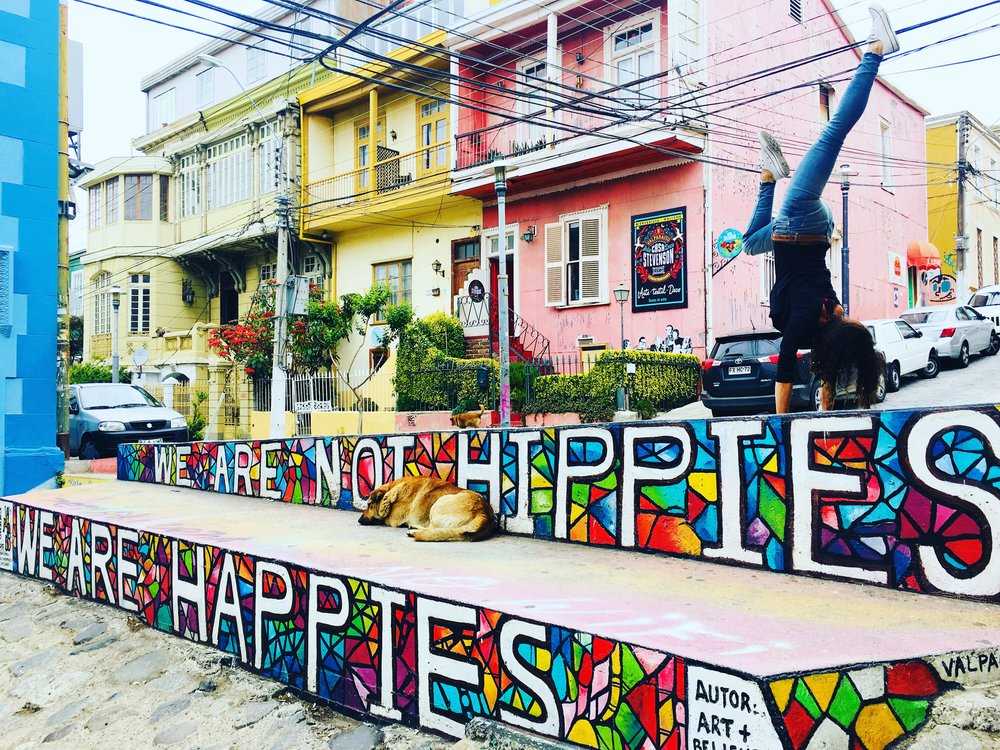 Hippy Not Happy in Valparaiso ( Chile )