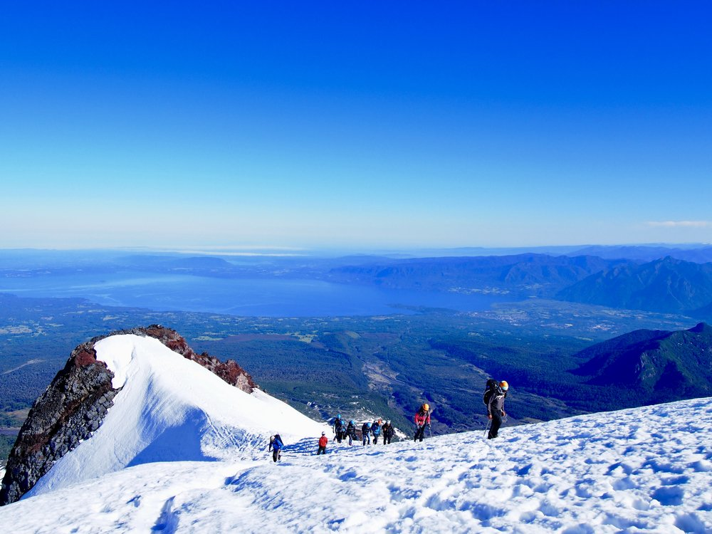Lunch Time View ( Villarica Volcano, Villarica, Chile )
