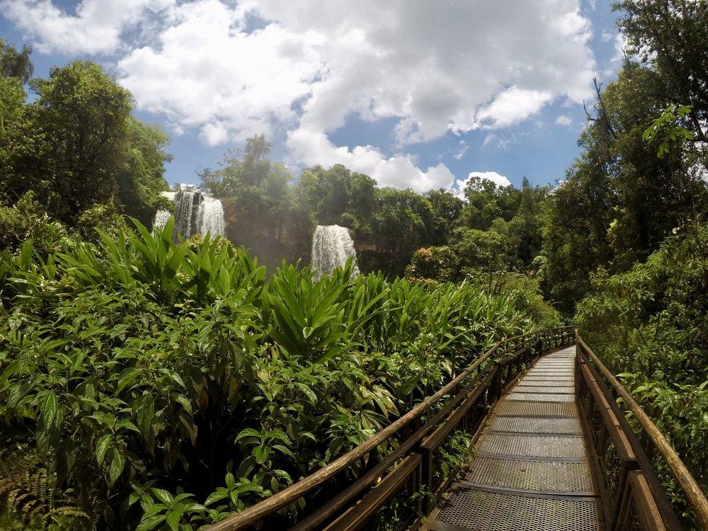 You are now entering Never Never Land ( Iguazu Falls National Park, Argentina )
