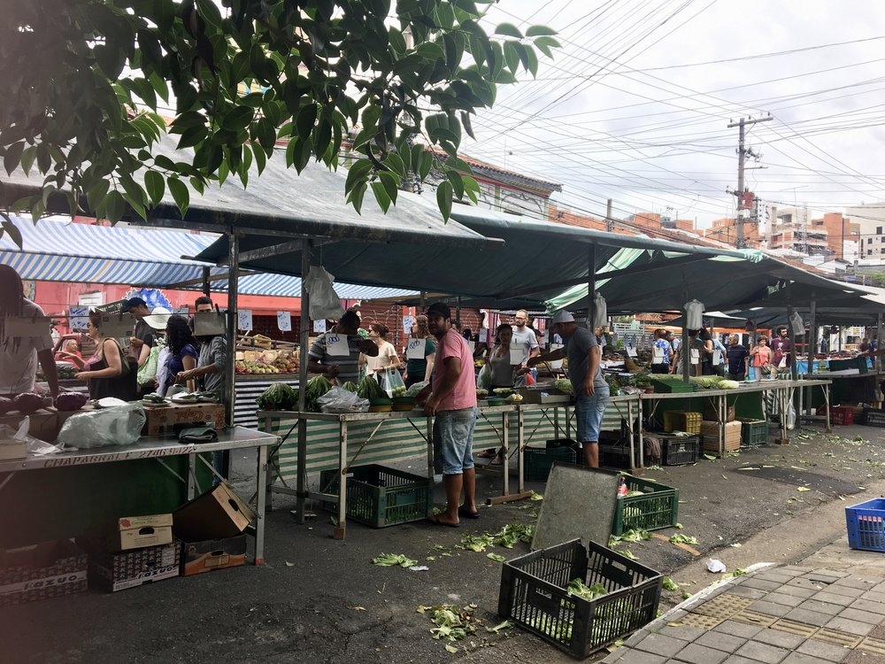 Snapped outside our doorstep ( Open air markets, Vila Madalena, Sao Paulo, Brazil )