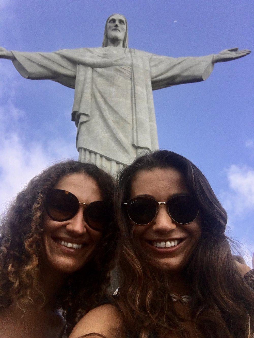 Selfie with The Big Guy ( Christ The Redeemer, Parque Nacional da Tijuca, Rio de Janeiro, Brazil )