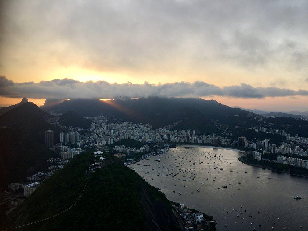 Sunset from Sugarloaf Mountain ( Pao do Acucar, Rio de Janeiro, Brazil )