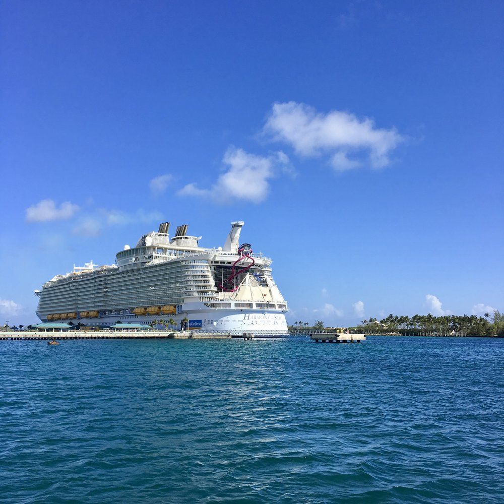 Harmony of the Seas ( Docked at   St Martin Island, Caribbean Sea )