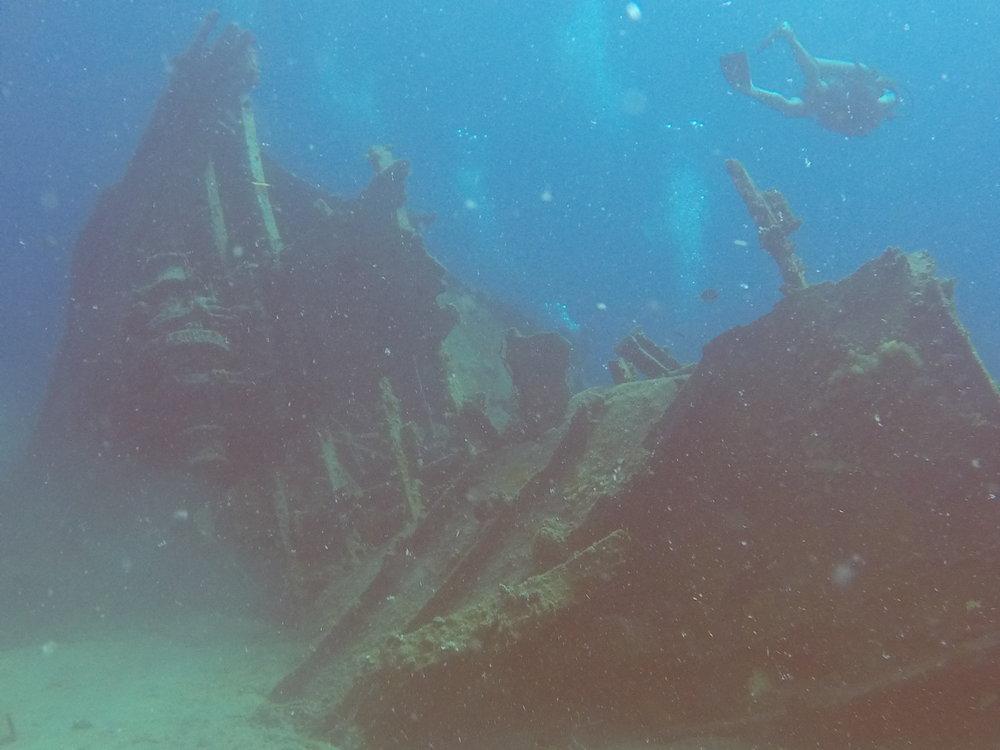 Ship Wreck at Bucks Island ( St Thomas Island, Caribbean Sea )
