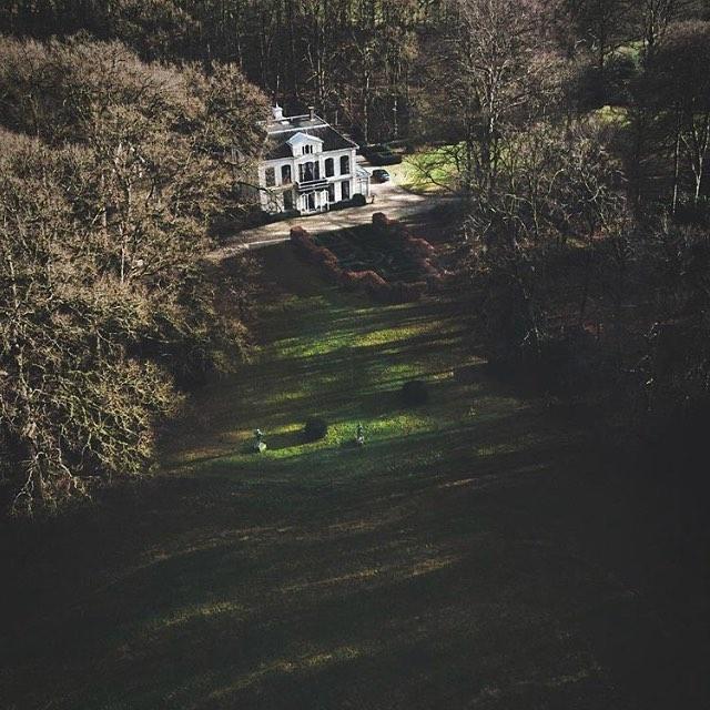 Met dank aan erwin.doorn #drone #landgoed #vanuitdrlucht
