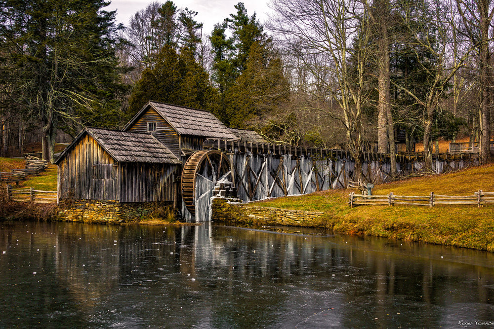 Mabry Mill in Winter