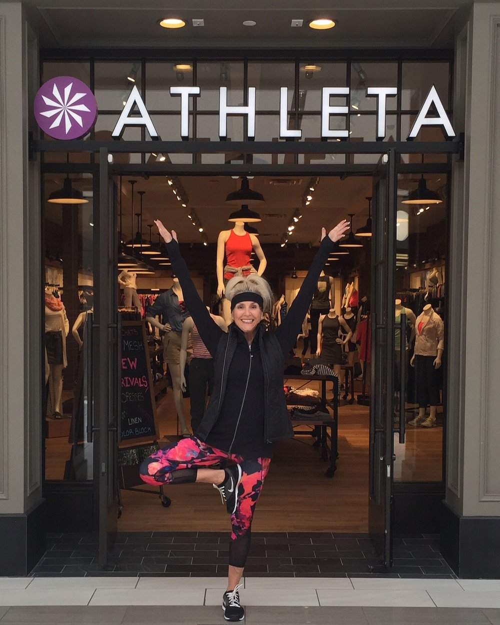 Athleta attire outside the Athleta Willowbrook store