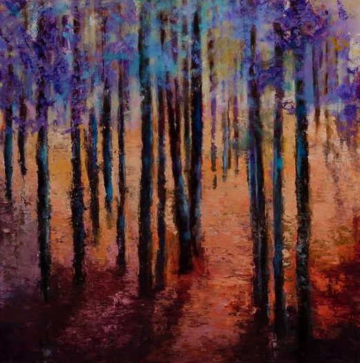 Forest of Trees 24 x 24 Oil on Canvas