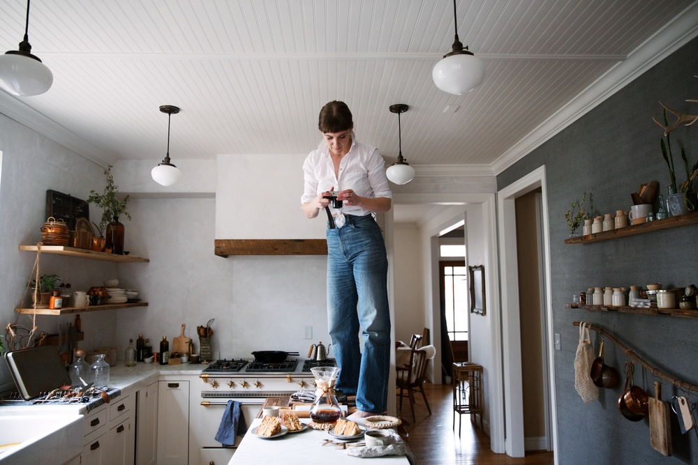 (Photo by Good Morning Journal)  You think overhead shots of teacups just happen without needing to stand on the countertop?! Nope. Being Insta-perfect takes work.