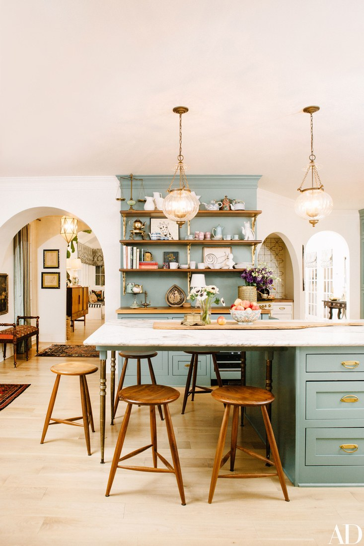 Paper_and_Moon_Louise_Dockery_Pierce_and_Ward_Karen_Elson_Nashville_house_blue_kitchen_cabinets.jpg