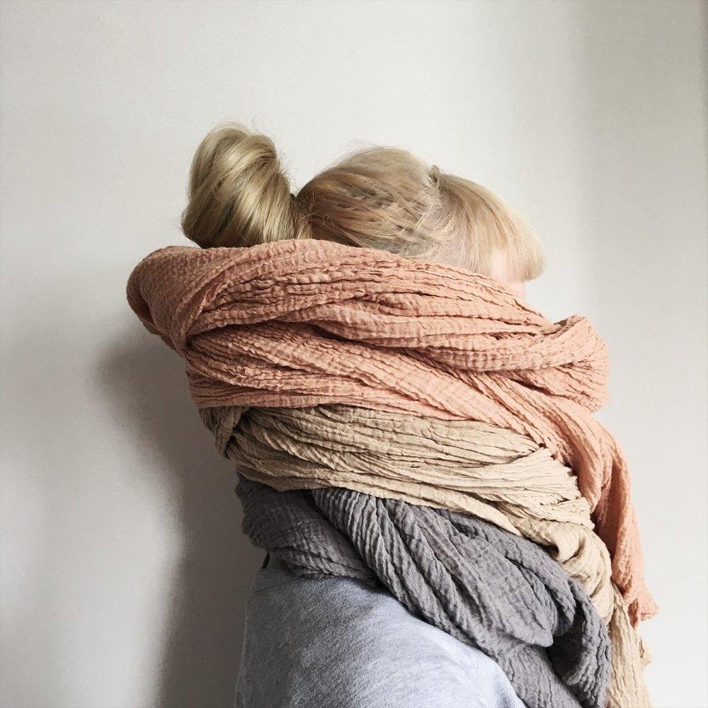 Kathryn Davey botanical dyed scarf,  €44