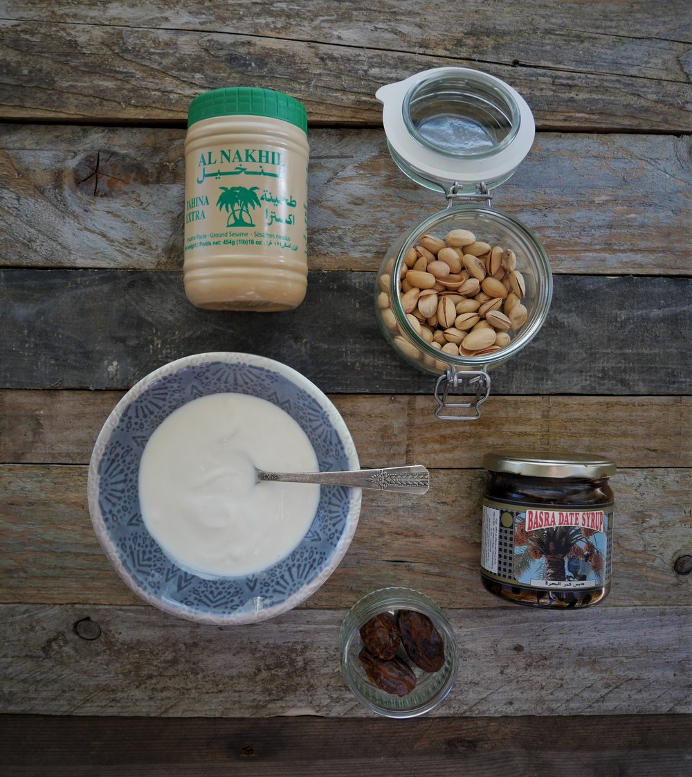 Paper_and_Moon_Louise_Dockery_date_syrup_tahini_pistashio_yoghurt_recipe_food.JPG
