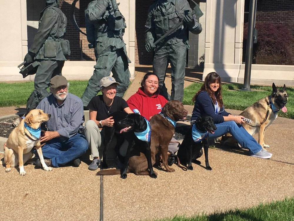 FEMA Urban Search & Rescue, Missouri Task Fource 1 got their exams from Dr. Amy Hunkeler and Mandi Holsten, Eye Care for Animals